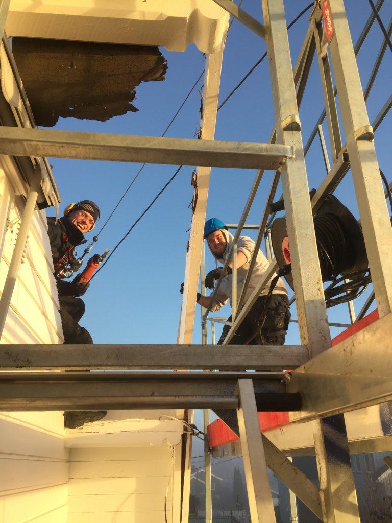 Rehabilitering av tak på Rykkinn